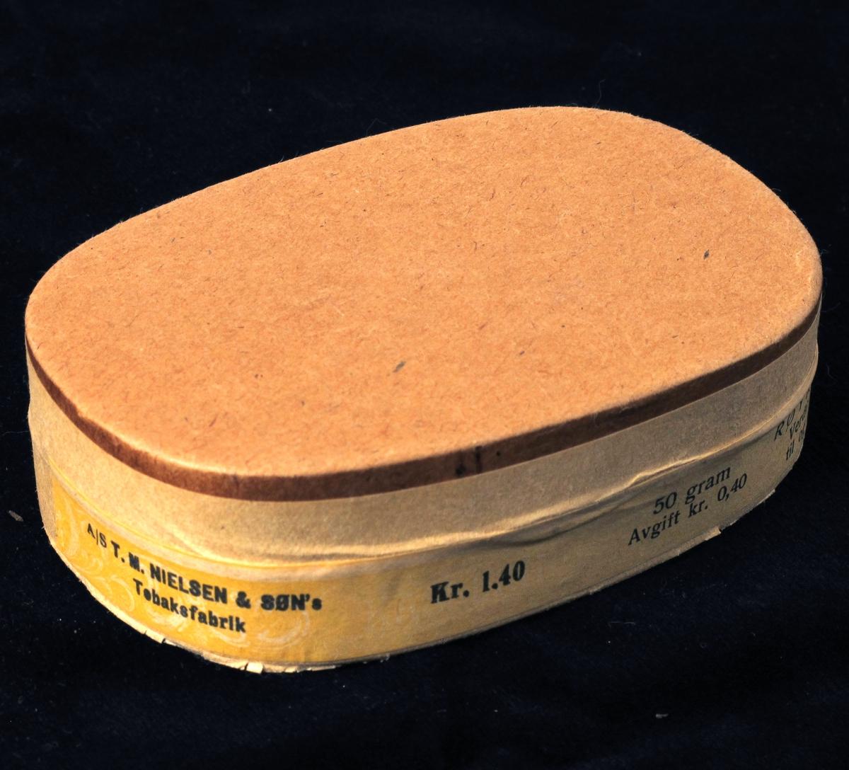 Oval brun  eske,