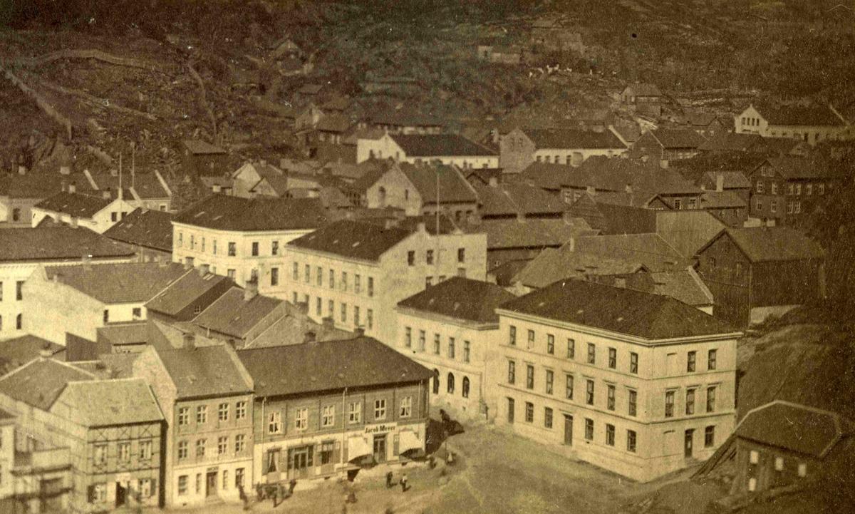 Arendal - Torvet - etter brannen 1863