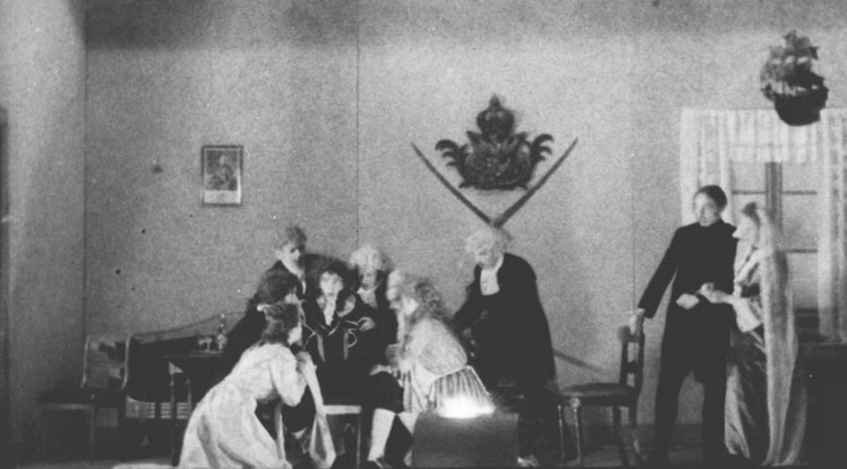 """Teaterstykket """"Den stundesløse"""", av Holberg."""