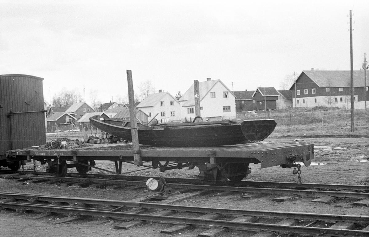 Godsvogn T 104 på Bjørkelangen stasjon.