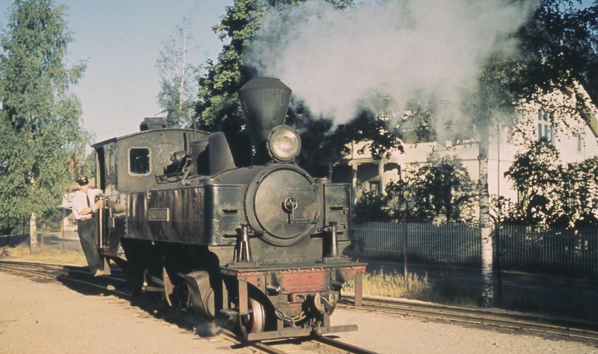 Skifting med lok 4 Setskogen på Sørumsand stasjon