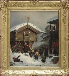 Norsk juleskik [Oljemaleri]